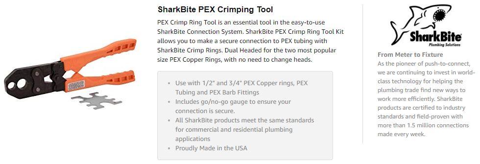 crimping tool for pex