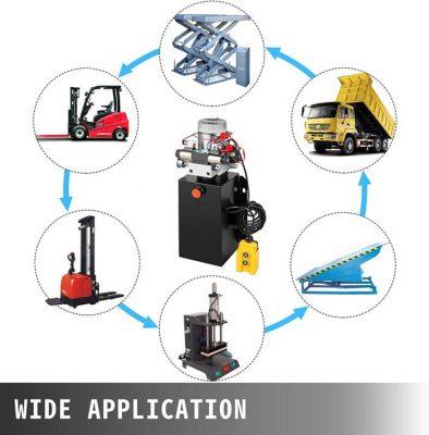 vevor hydraulic pump application