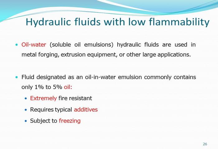 hydraulic fluids