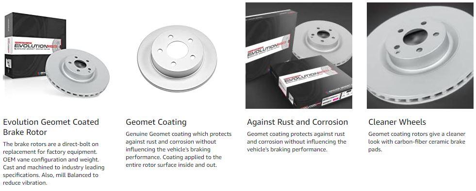 Evolution Genuine Geomet Coated rotors