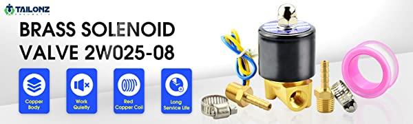 tailonz brass electric solenoid valve